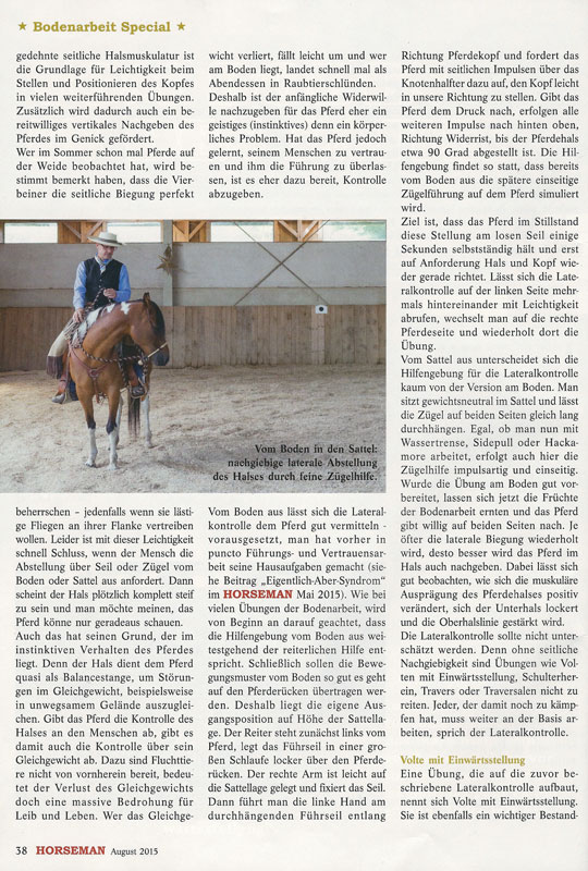 Horseman 08/2015 - Vom Boden in den Sattel