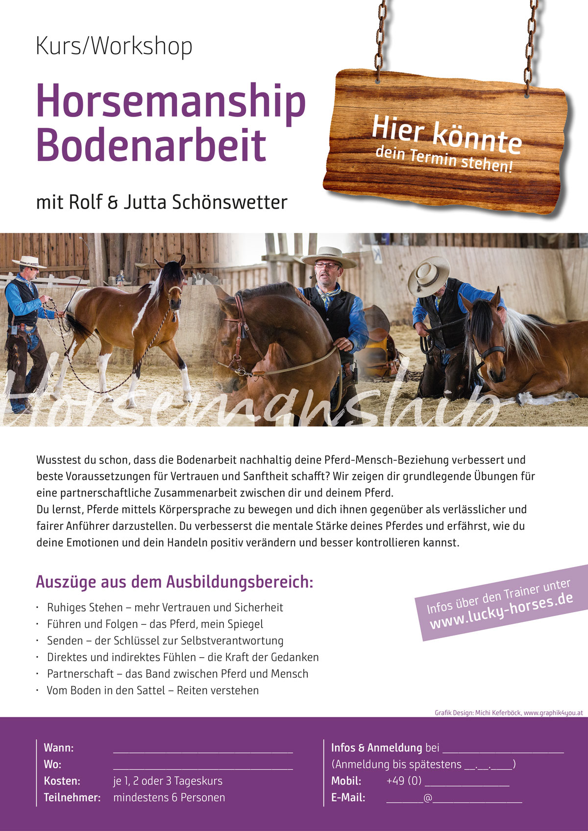 Kurs/Workshop Horsemanship Bodenarbeit