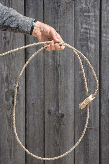 So sieht der Loop einer geschmeidigen Reata aus: rund und nicht verdreht.