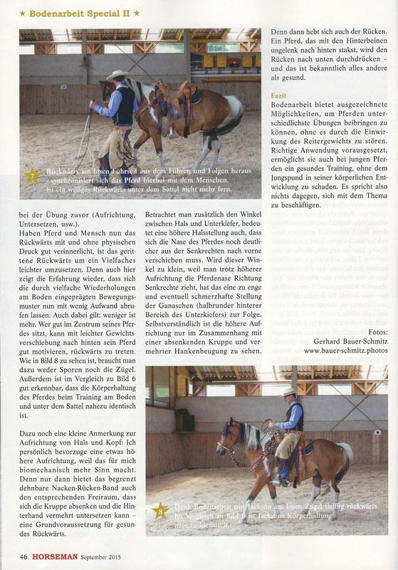 Zeitschrift Horseman: Vom Boden in den Sattel (Teil 2)
