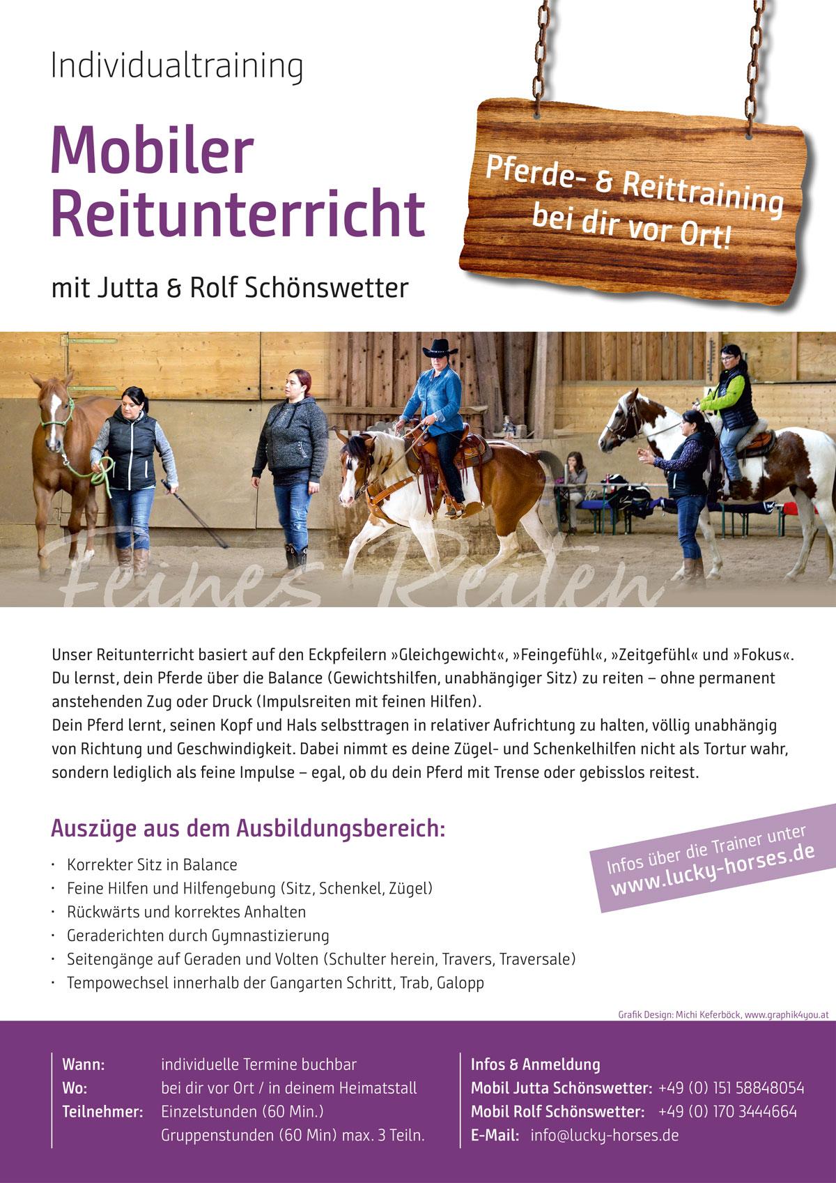 Jutta und Rolf Schönswetter: mobiler Reitunterricht