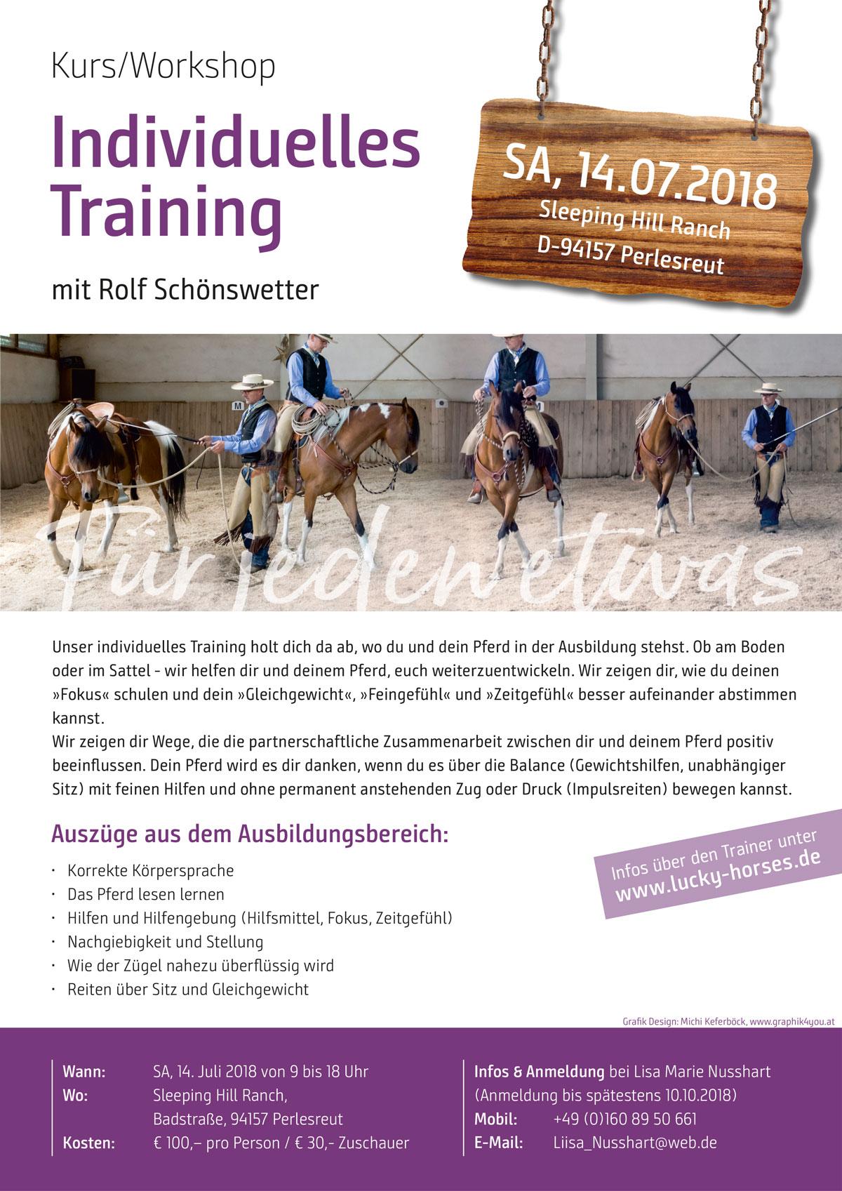 Unser individuelles Training holt dich da ab, wo du und dein Pferd in der Ausbildung stehst