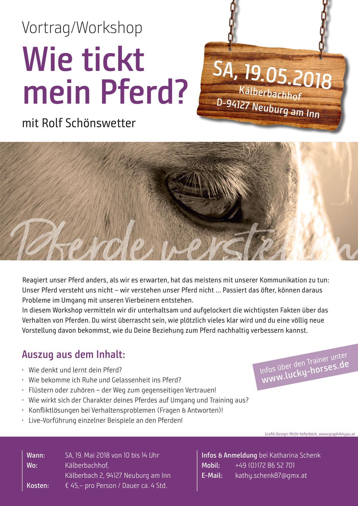 Vortrag Pferdepsychologie: Wie tickt mein Pferd?